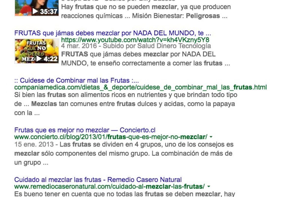 Frutas combinadas, ¿un riesgo o un mito? Experto nos revela la verdad. Imagen Por: Google