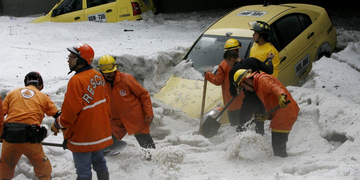 Fuerte granizada cayó en el norte de Bogotá