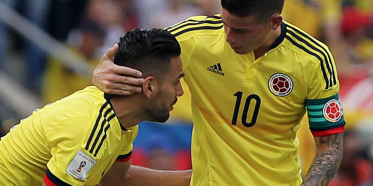 James y Falcao hablaron de la derrota de Colombia 3 por 0 con Argentina