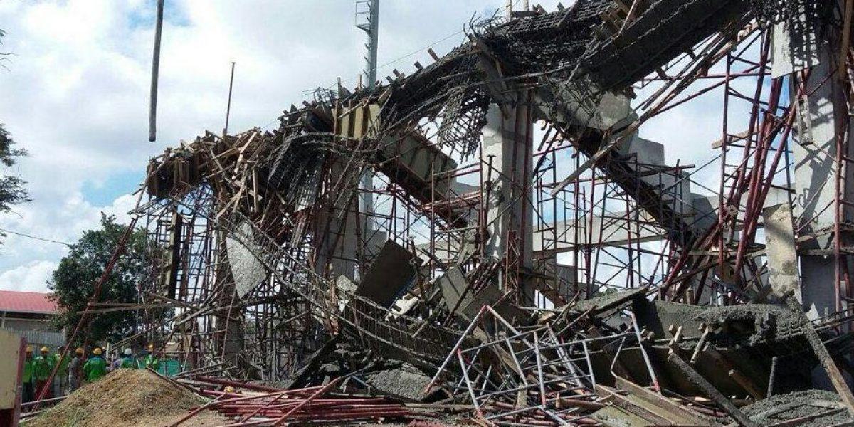 Se cayó la tribuna en construcción del estadio de Montería