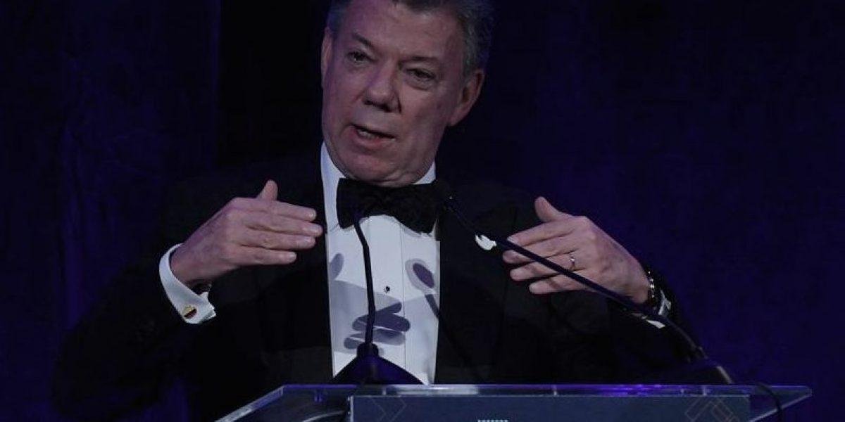 Santos recibe premio al Liderazgo por sus esfuerzos de paz
