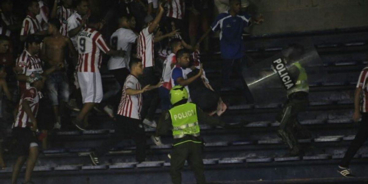 Desmanes en el Metropolitano después de la final de la Copa