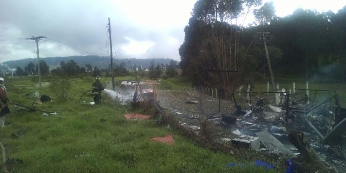 Explosión de polvorería ilegal en Soacha prende las alarmas
