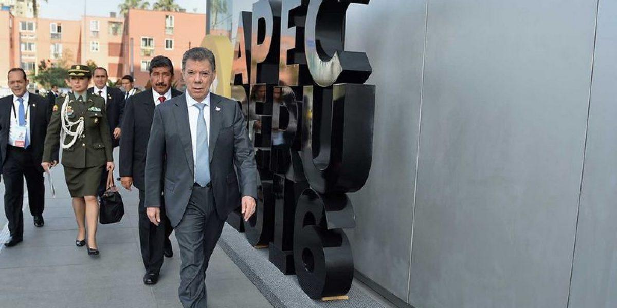 Santos aseguró ante el Apec que nuevo acuerdo con las Farc es