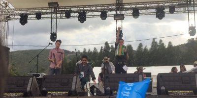 Acordeoneros bogotanos en el festival de Nobsa. Imagen Por: Cortesía