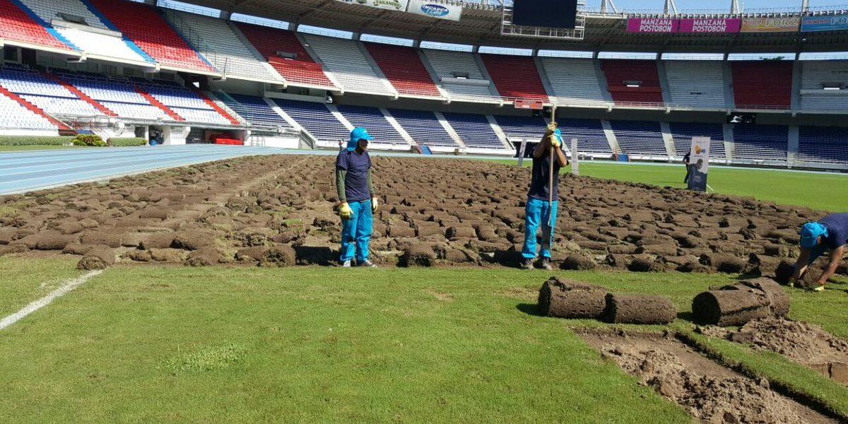 Comienza renovación de la gramilla del Estadio Metropolitano en Barranquilla