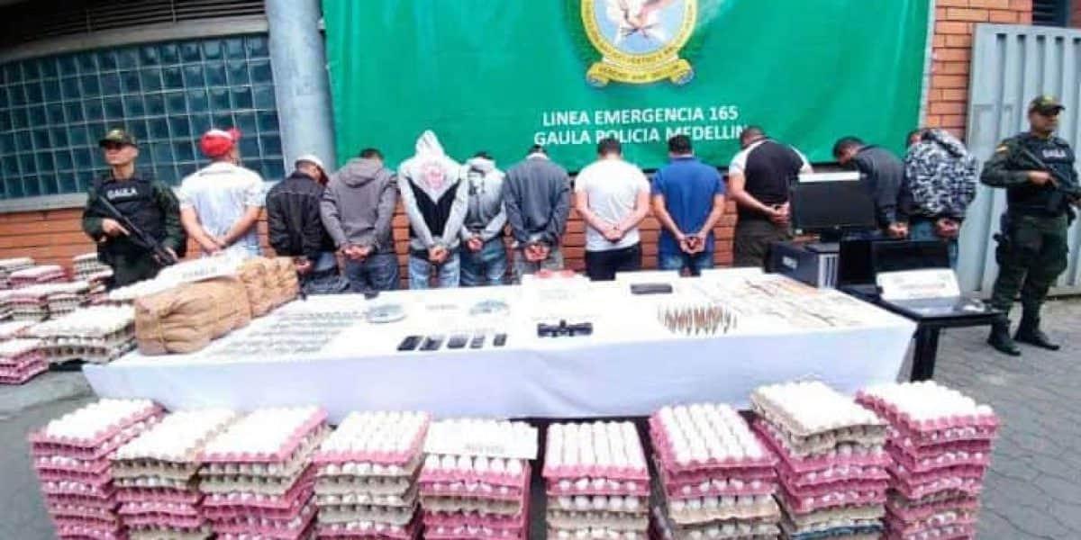 Cae banda criminal por control de la canasta familiar en la comuna uno de Medellín