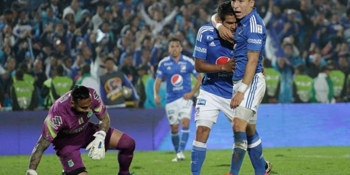 Papaya puesta… ¡Millonarios le ganó el clásico al 'baby' Nacional (2-1)
