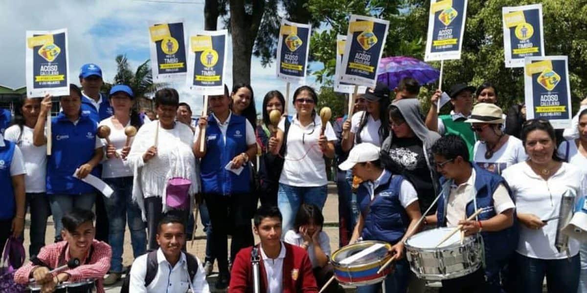 La campaña en Timbío, Cauca, para acabar con los piropos ofensivos
