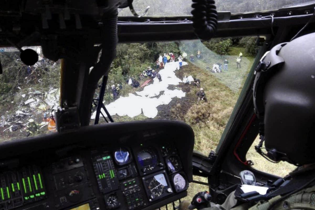 En vivo accidente Chapecoense. Imagen Por: EFE