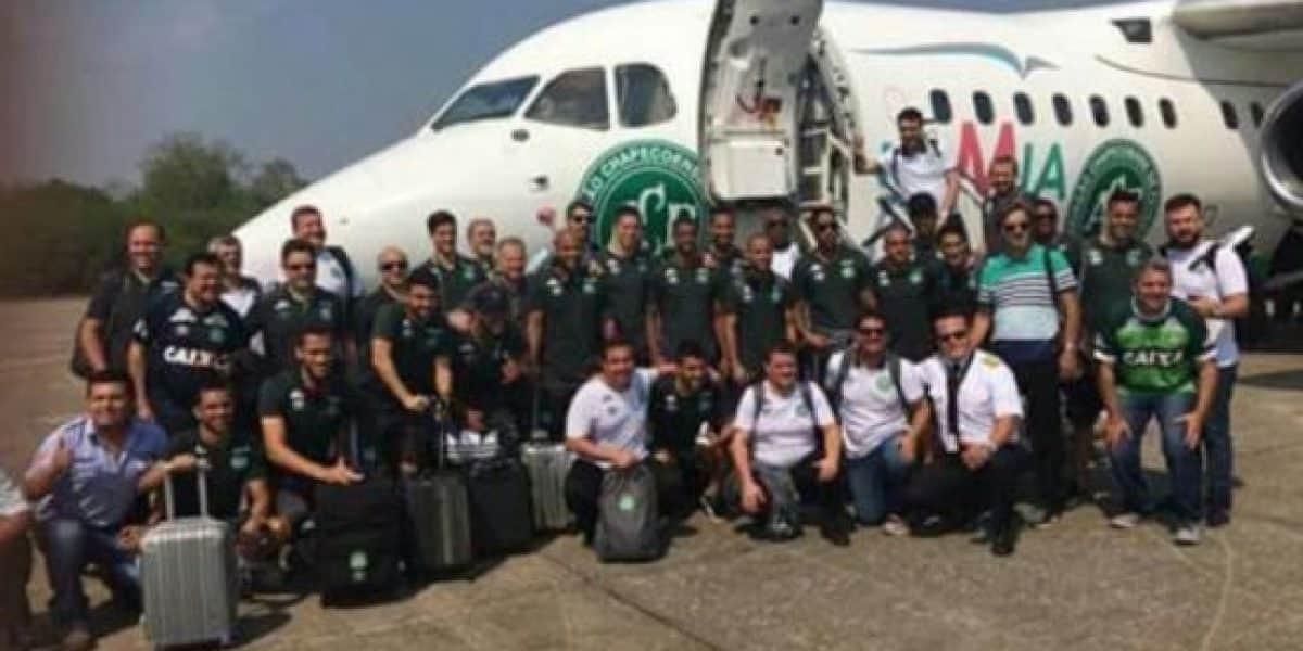La última foto de Chapecoense antes de subir al avión de la tragedia
