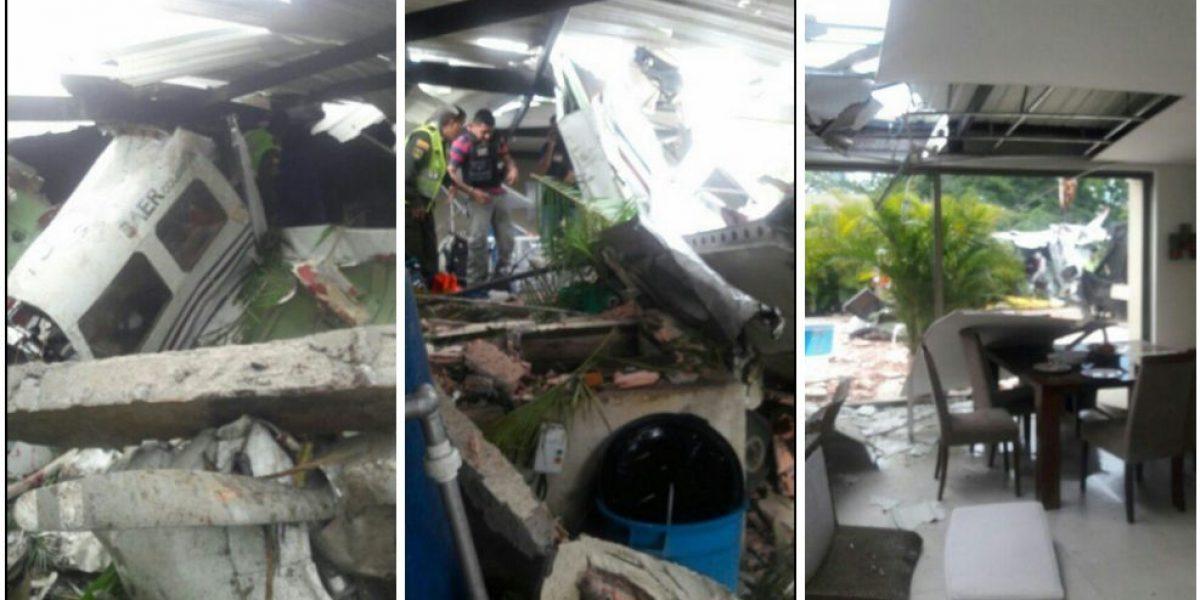 Avioneta cayó sobre un conjunto residencial de Villavicencio
