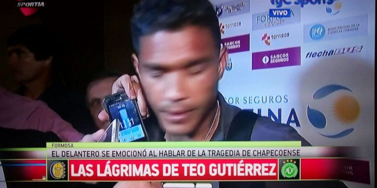 Video: Teófilo Gutiérrez rompe en llanto por Chapecoense