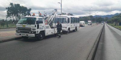 Buses Chimenea en Bogotá. Imagen Por: Cortesía