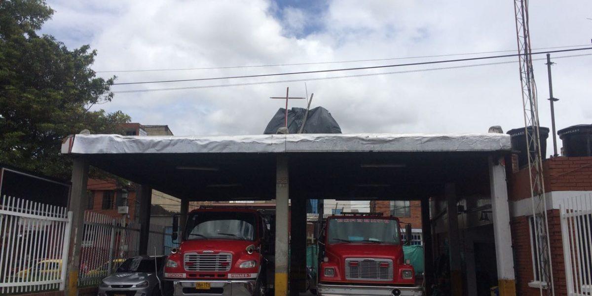 Personería denuncia riesgo de colapso de la estación de Bomberos de Engativá