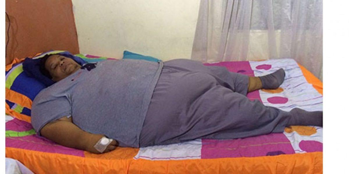 Falleció de un infarto el hombre más obeso de Colombia