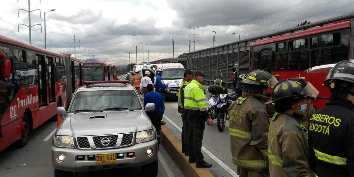 Accidente en la Autonorte con calle 166 dejó ocho personas lesionadas