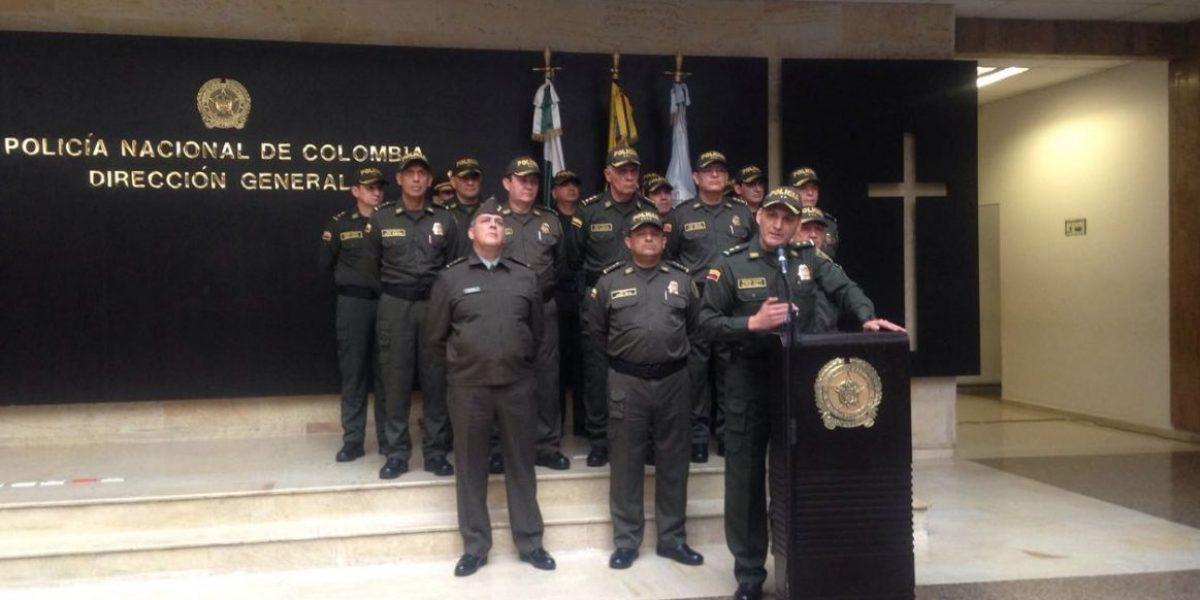 Policía Nacional anunció cambios en las regionales y la cúpula se mantiene