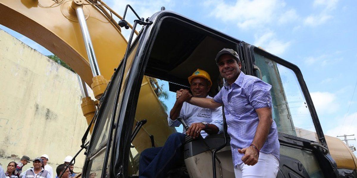 Comenzó canalización del arroyo de La Felicidad en Barranquilla