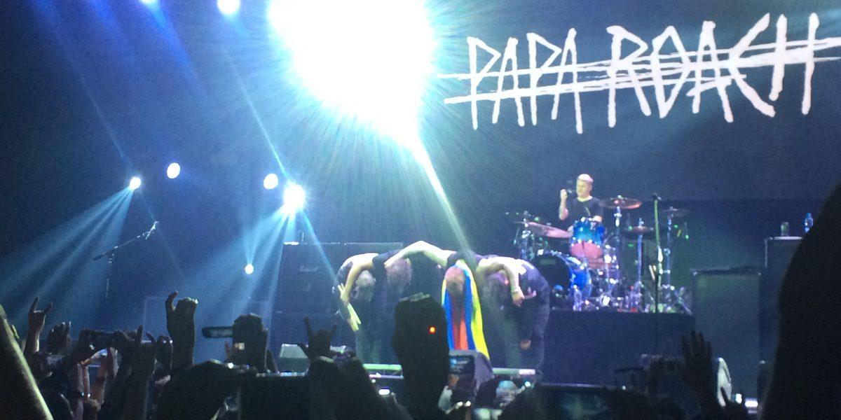 Video: Bajista de Papa Roach tocó en Bogotá con camiseta de Santa Fe