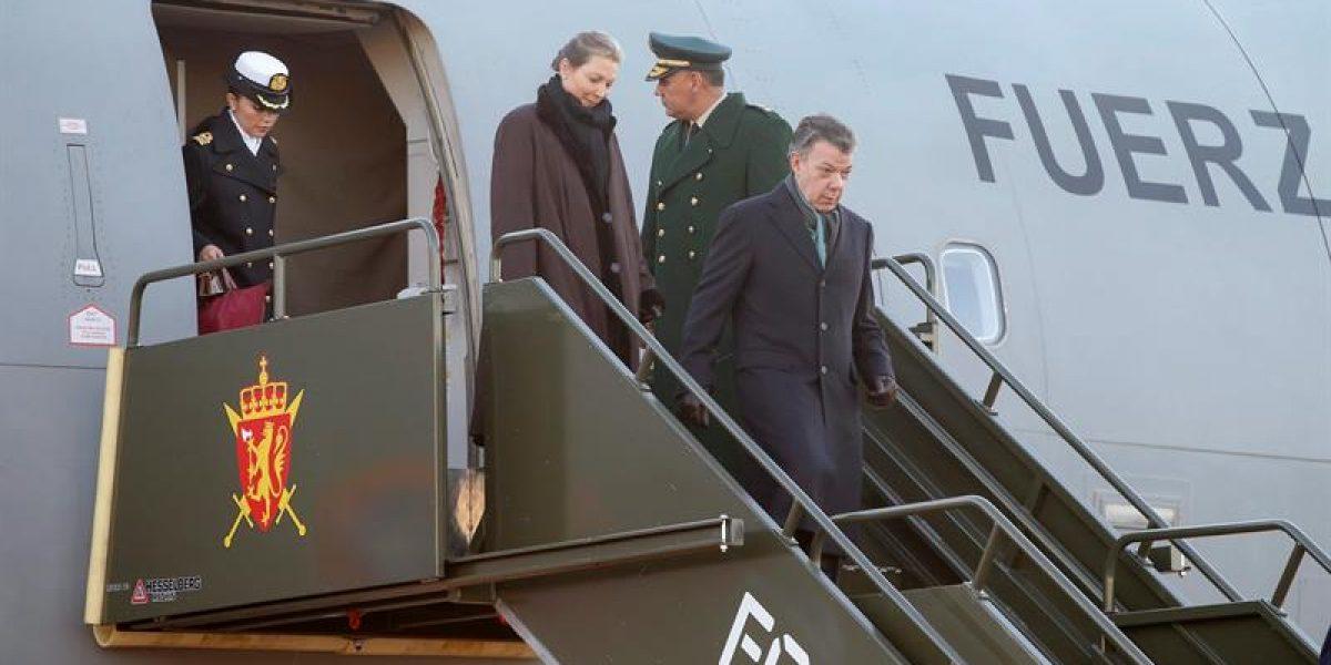 Santos ya está en Oslo para recibir el Premio Nobel de Paz