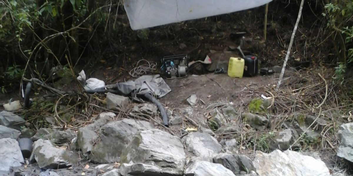 Ejército golpeó con fuerza la minería ilegal en el Suroccidente colombiano en 2016