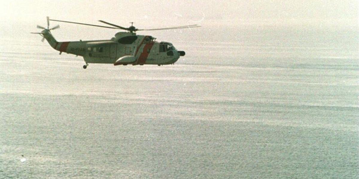 Armada rescata a cinco ocupantes de helicóptero que cayó en San Andrés
