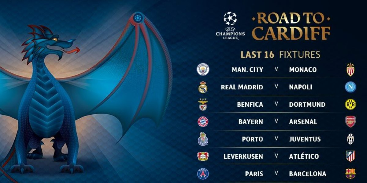 Horarios confirmados para los octavos de final de la Champions League
