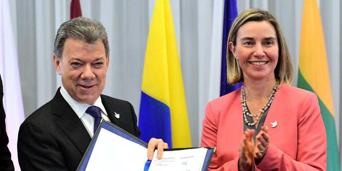 La Unión Europea y Santos ya firmaron el fondo para el posconflicto colombiano