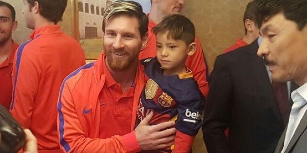 Murtaza el niño que imitó camiseta de Messi con una bolsa de plástico por fin lo conoció