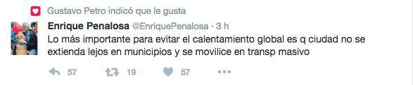 El trino de Peñalosa al que Gustavo Petro le dio 'me gusta'