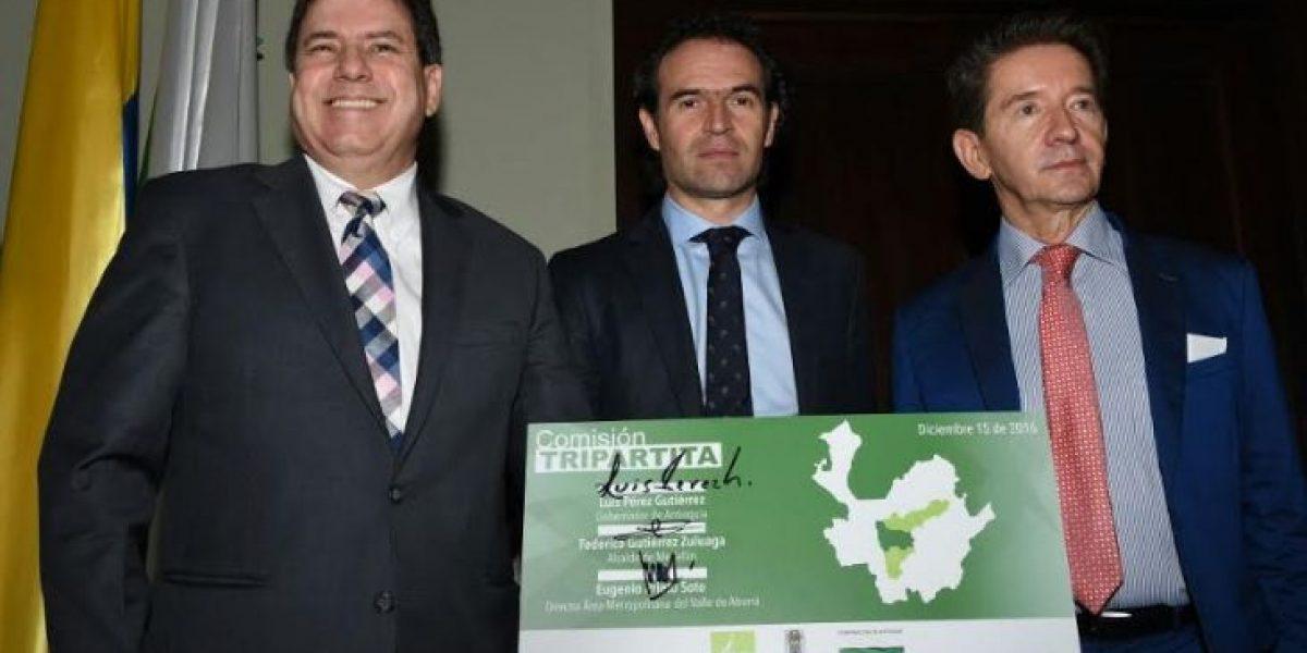 Gobernación, Alcaldía y Área Metropolitana firman convenio interinstitucional