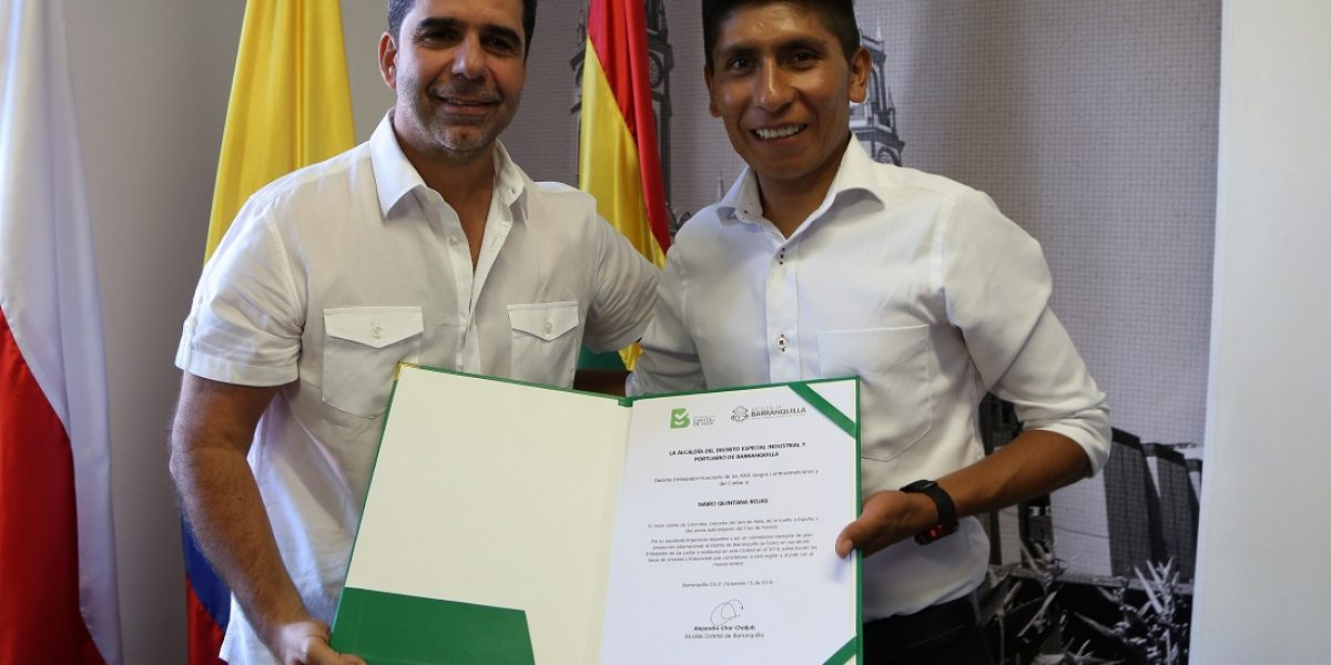 Nairo Quintana será el embajador de los Juegos Centroamericanos y del Caribe
