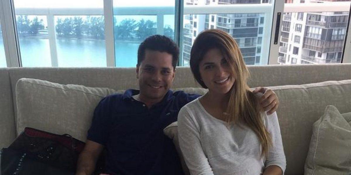 Luis Carlos Vélez y Siad Char muestran a su bebé