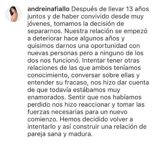 Video de Fredy Guarín a Andreina Fiallo
