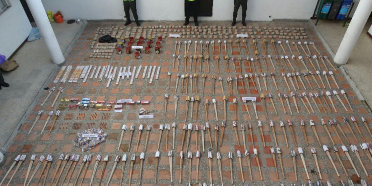 Más de una tonelada de pólvora fue incautada en Antioquia