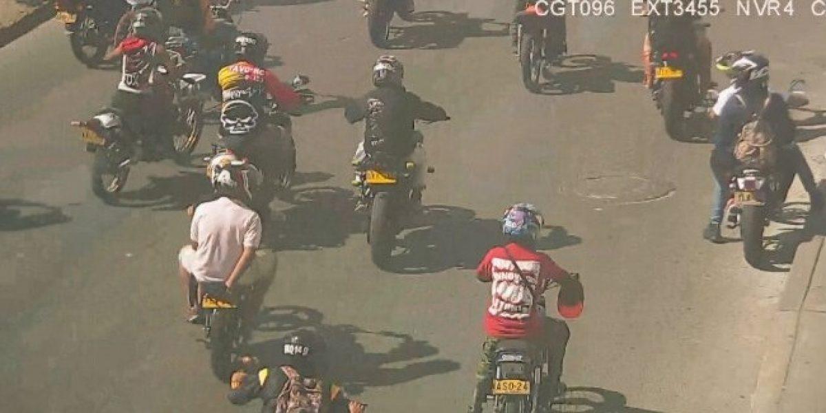 Secretaría de Movilidad anunció multas a motociclistas que invadieron la ciclovía