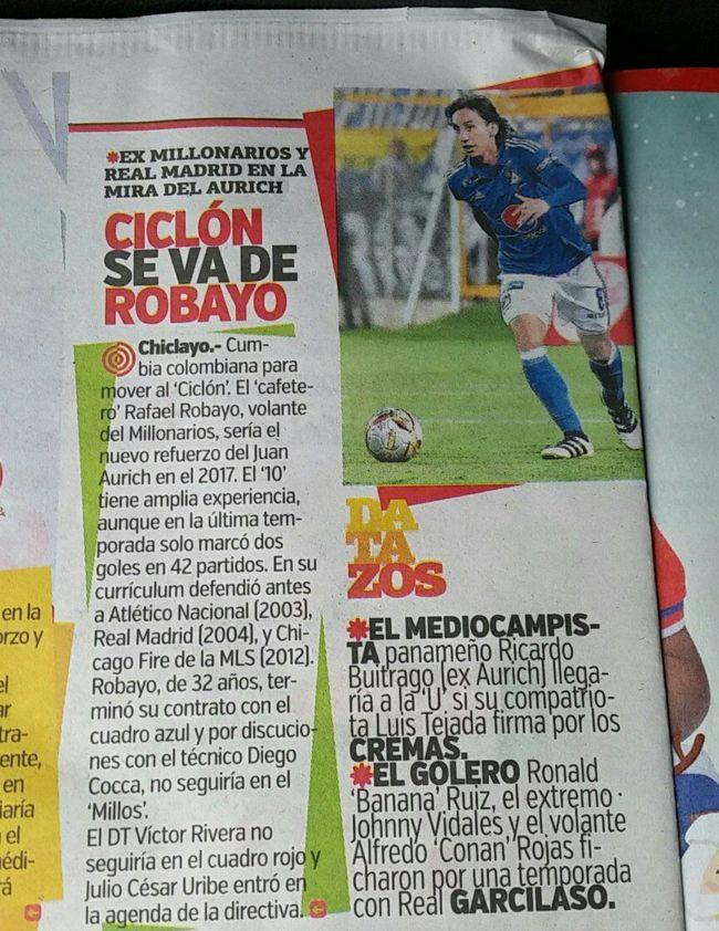 Robayo jugó en Real Madrid según prensa de Perú
