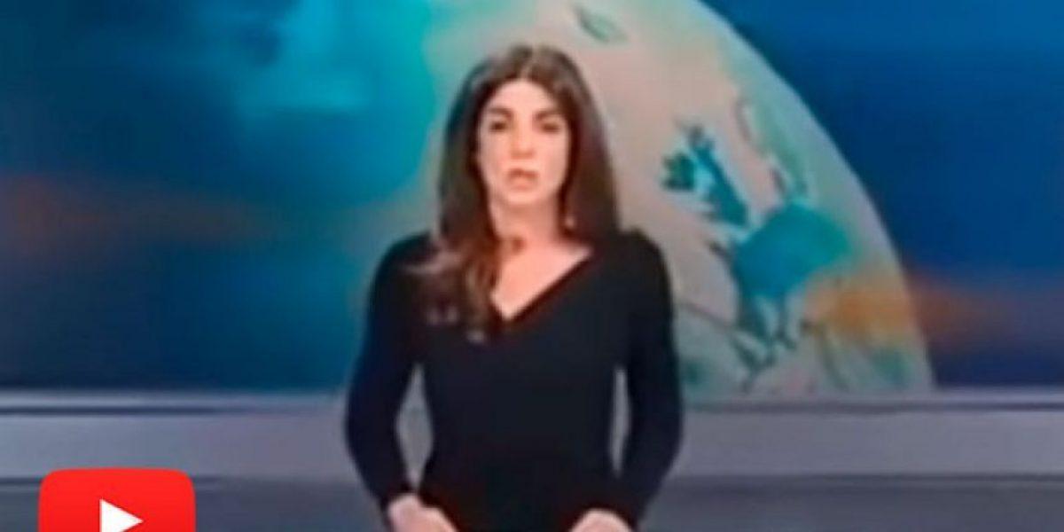 Periodista italiana dejó ver más de lo debido en la TV