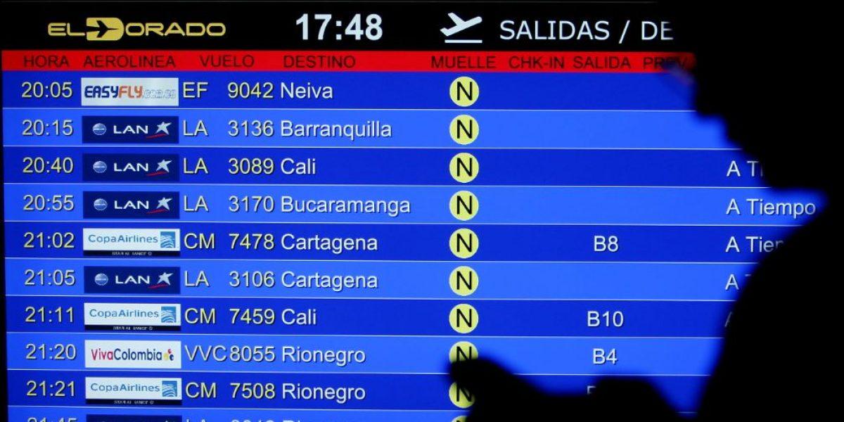 Cerca de 742 mil pasajeros viajarán en avión para fin de año en Colombia