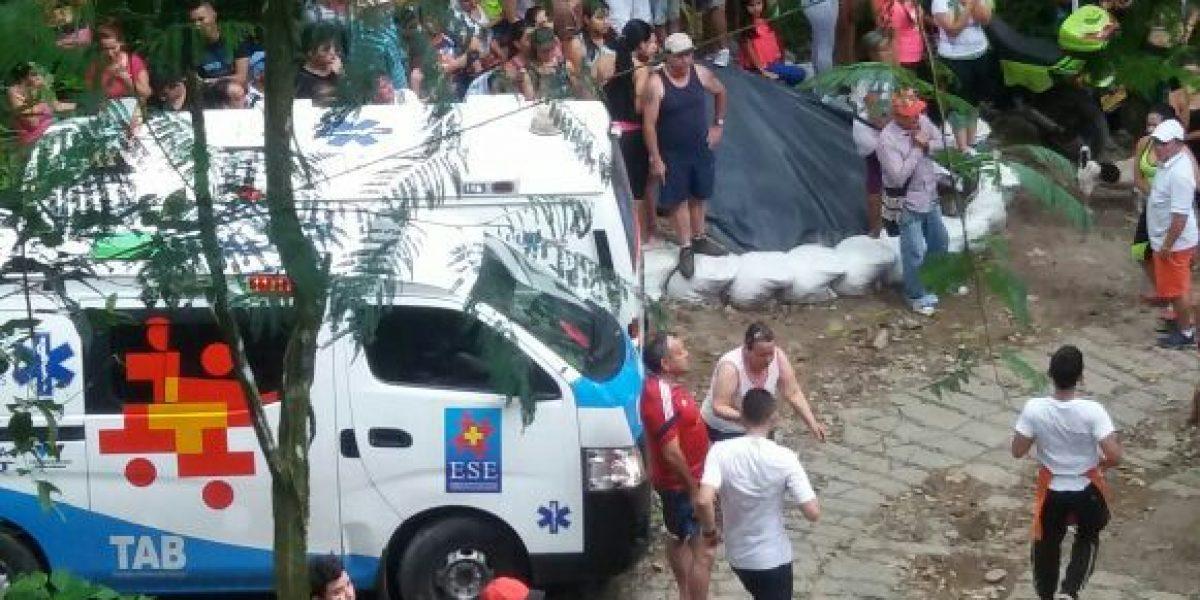Momentos previos a la caída del puente colgante de Villavicencio