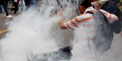 Reprimen en Bogotá protesta de personas con discapacidad