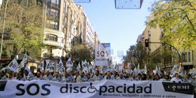 Acusan al ESMAD de disparar gases lacrimógenos contra la población con discapacidad