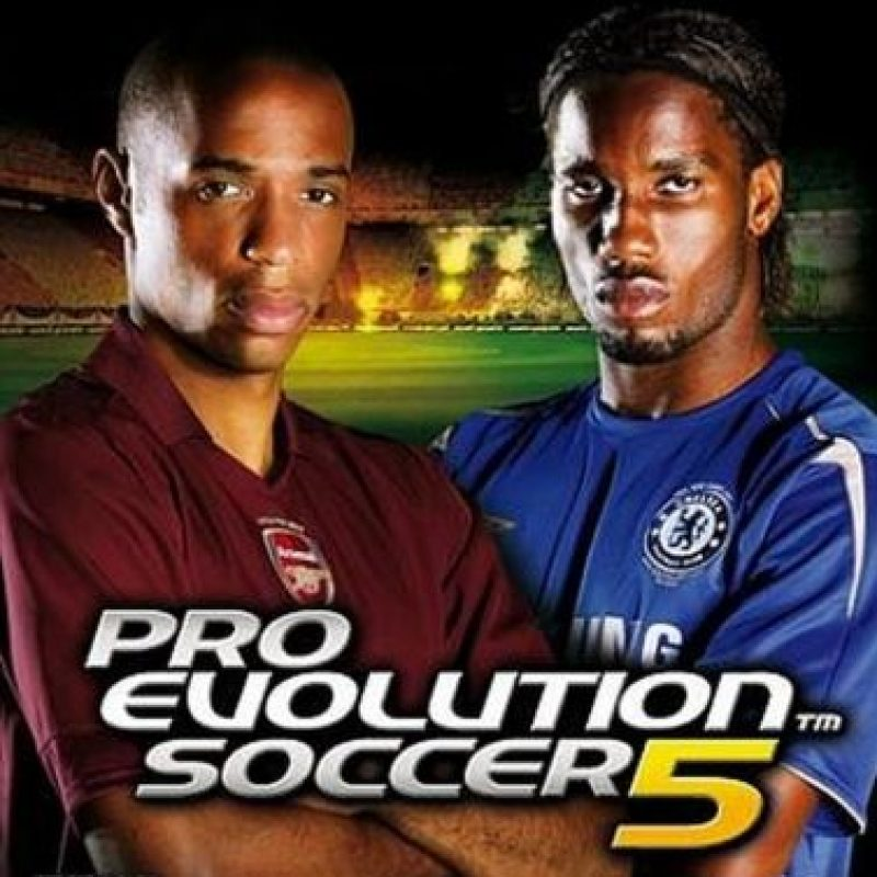 """""""Pro Evolution Soccer 5"""" con el francés Thierry Henry y el marfileño Didier Drogba. Foto:Konami"""