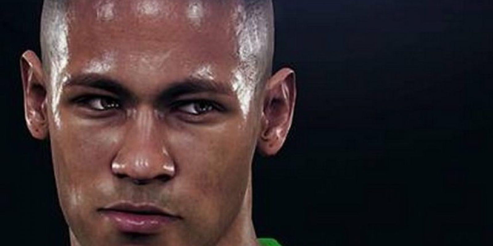 El rostro de Neymar. Foto:Konami