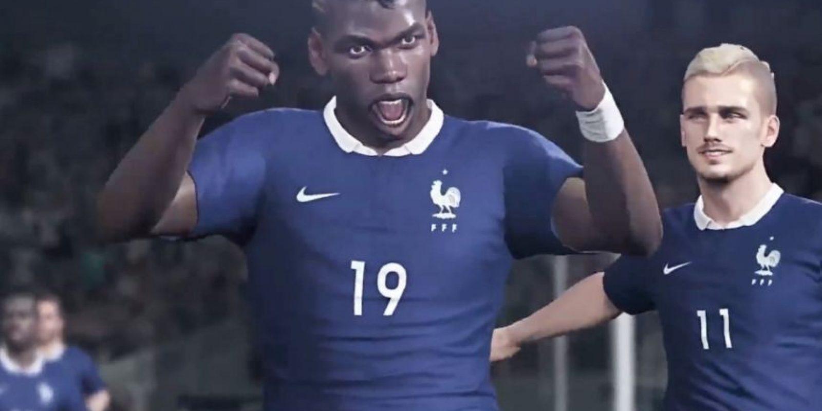 El francés Paul Pogba. Foto:Konami