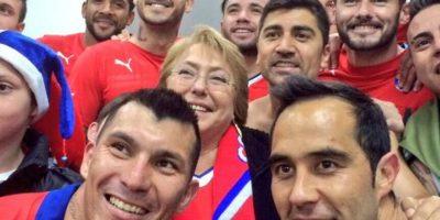 Chile celebra triunfo en Copa América con Bachelet