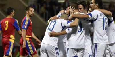 Nestor Mytidis consiguió un 'hat-trick' para el triunfo de Chipre sobre Andorra. Foto:uefa.com