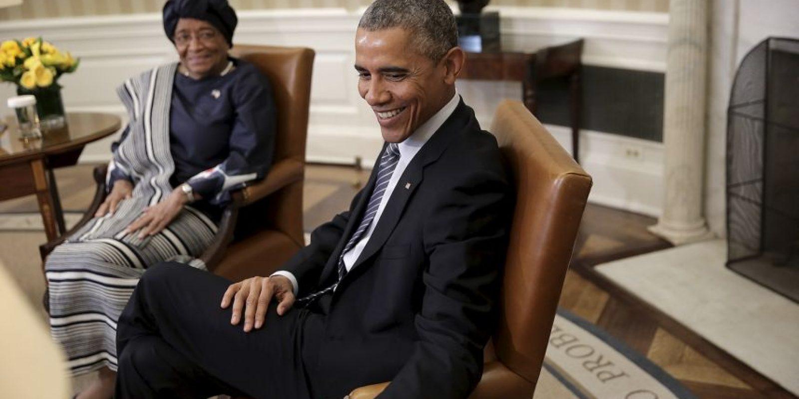 Y Ellen Johnson, presidenta de Liberia y Premio Nobel de la Paz Foto:Getty Images
