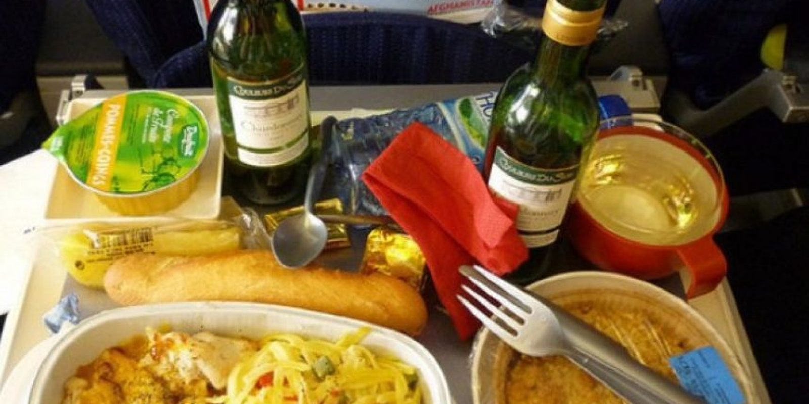 4. Pasta con pollo, pan y postre. Foto:Foto: Vía Flickr: mrmystery /Creative Commons